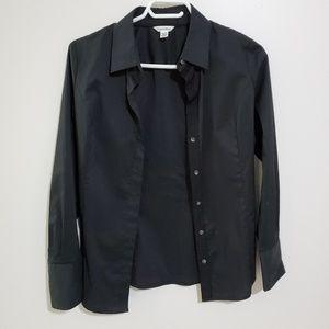 slim fit xs Calvin Klein black button up